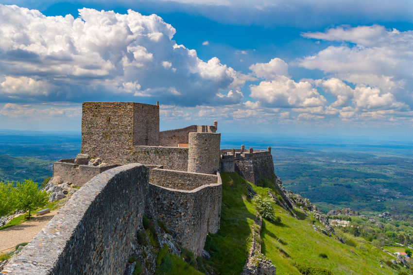 castelo de Marvão Ancient Ancient Civilization Archaeology Architecture Beauty In Nature Building Building Exterior Built Structure Castle Cloud - Sky Day Fort History Nature No People Old Old Ruin Outdoors Ruined Scenics - Nature Sky Stone Wall The Past Travel Destinations Water