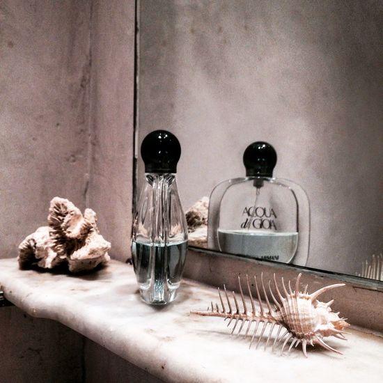 #bathroom #detail #shell #vintage #vintagebathroom Bottle Day No People