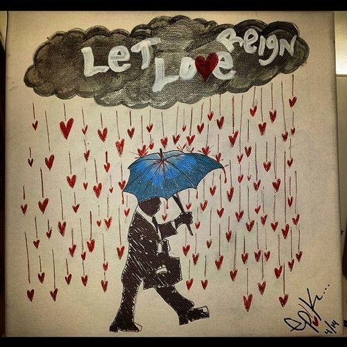 """Let Love Reign"" My first art on canvas! No matter how cloudy the day, love will always reign. Artnsoul Letlovereign Canvas Sharpie acrylic oilbasedsharpie art rain loveraindownonme EP!K. *Art work for sale if interested. Canvas size 12x12"