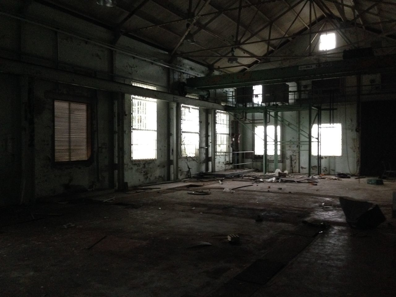 abandoned, destruction, dirty, empty, ceiling, indoors, damaged, window, run-down, spooky, old ruin, rusty, architecture, desolate, no people, rotting, deserted, bleak, day