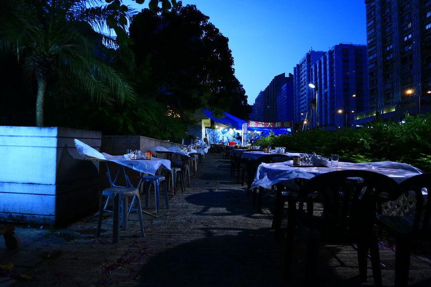 Local Restaurant Fotan Fotan Village HongKong Discoverhongkong No People Outdoors Night Tables Traditional Chinese Urban Exploration Tadaa Community The Street Photographer - 2017 EyeEm Awards