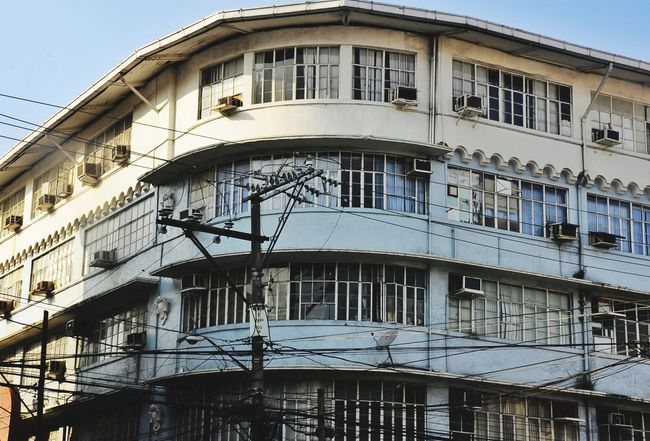 Building Old Building  Old Building Exterior Old Buildings Windows Wires Electric Wire