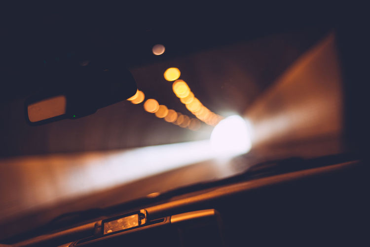 Blurred Motion Car Driving Lights Night Photography Passenger Seat Thunder Bay Tunnel Need For Speed