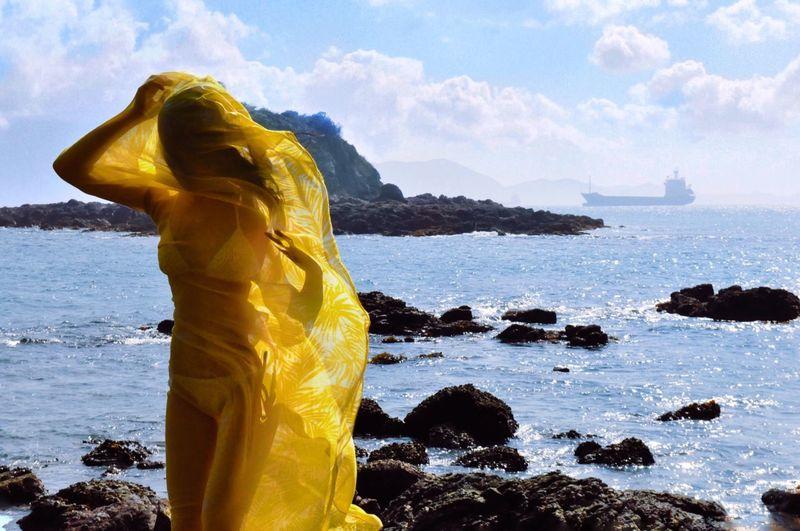 Lemon By Motorola South Yellow Beautiful Girl Holiday Trip Sea And Sky Life Is A Beach Relaxing Girl Bikini