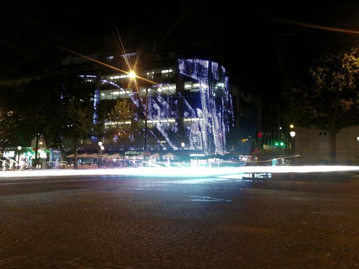 France🇫🇷 Paris ❤ Arc De Triomphe De L'Étoile Night Light Painting Plus Belle Avenue Du Monde Publicis Long Exposure Honor 8