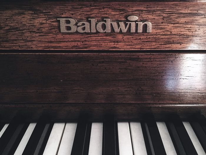 Piano Wood Baldwin White Black Close-up Music Piano Keys Brown