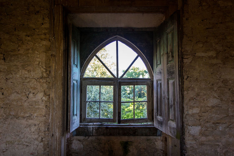 Abandoned Arch Architecture Built Structure Close-up Damaged Day History Indoors  No People Window