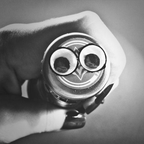 Beer googly eyes