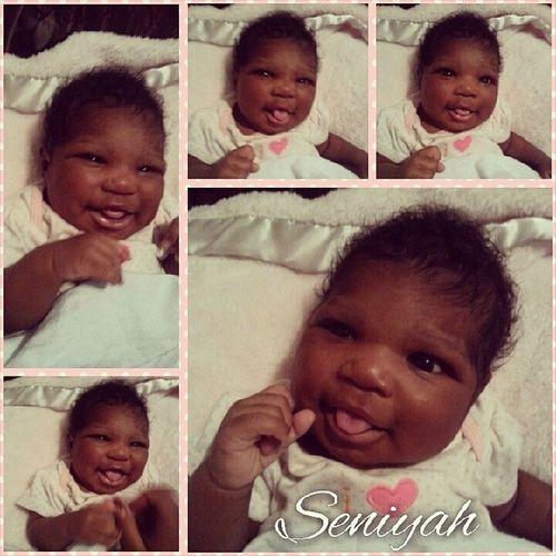 Got her to smile!! BabyGirl2 Love Seniyah Love BlackBeauty