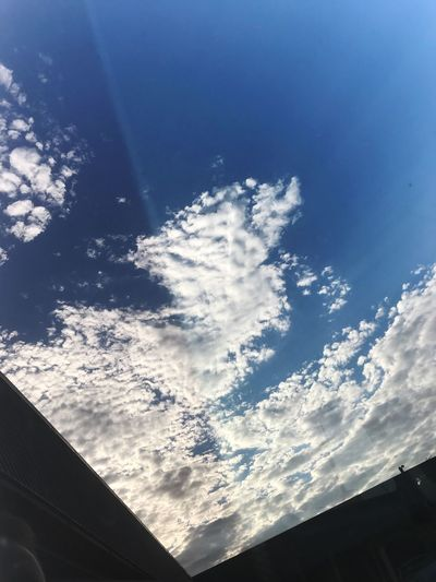 Reflections Low Angle View Sky Cloud - Sky No People Nature Day Blue Beauty In Nature Sunlight Outdoors Scenics Architecture