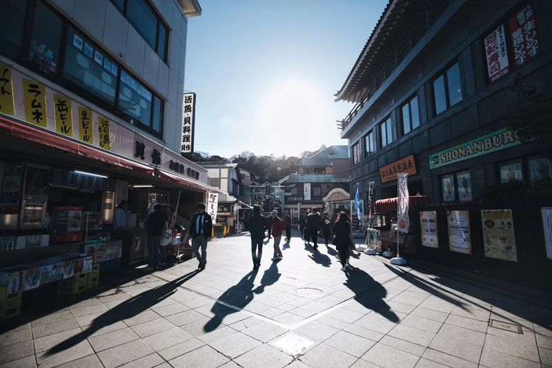 Japan Nature Japanese  Vscocam Streetphotography Light And Shadow Snap Bokeh Building Exterior City Architecture Built Structure Street Group Of People Sunlight