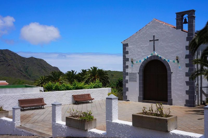 Miles Away Sky Travel Destinations No People Outdoors Architecture Tranquility Place Of Worship Religion Scenics Tree Day Tenerife Church Above The Clouds