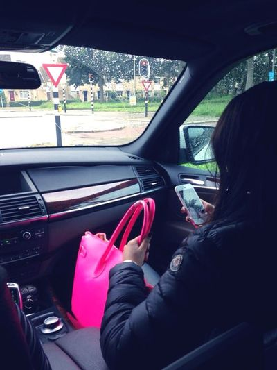Going to..?? Driving With My Mommy❤ Pink Moncler ThatsMe Moi Eye4photography  Having A Good Time Car