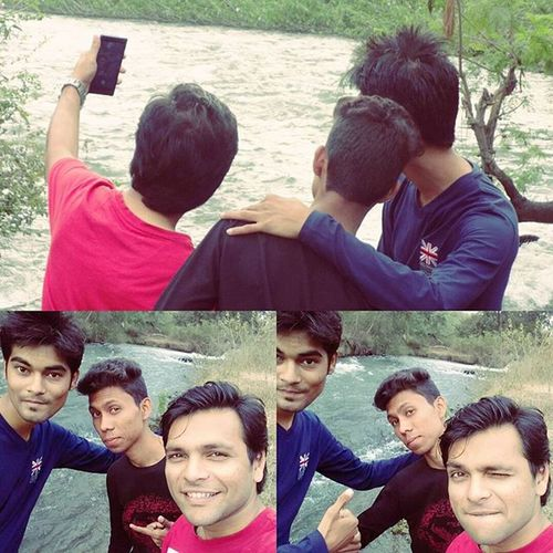 Multiple angles, multiple pictures, multiple cameras Selfie Streamofwater Angles Lake Twoangles Multipics Jungle Safari Click Followme Nagpurdiaries Nagpur India Sonycybershot