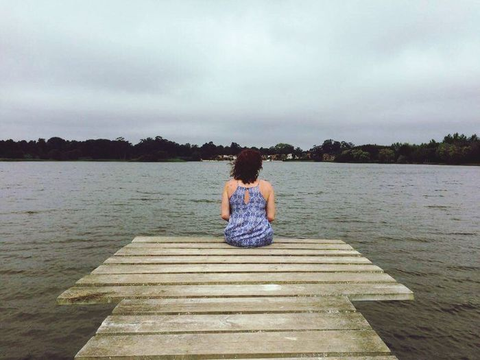 Sitting Rear View Lake Full Length Water Young Adult Nature Women One Person Sky People Adult Outdoors Young Women Beauty In Nature Day Adults Only One Young Woman Only Lotus Position EyeEmNewHere Women Around The World Long Goodbye Done That. Second Acts Be. Ready.