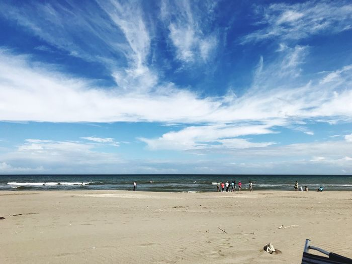 Water Sea Beach Sky Land Sand Cloud - Sky