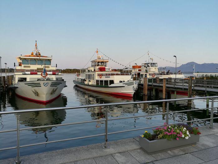 Harbor Sea Landscape Travel Destinations Ship Ships Chiemsee