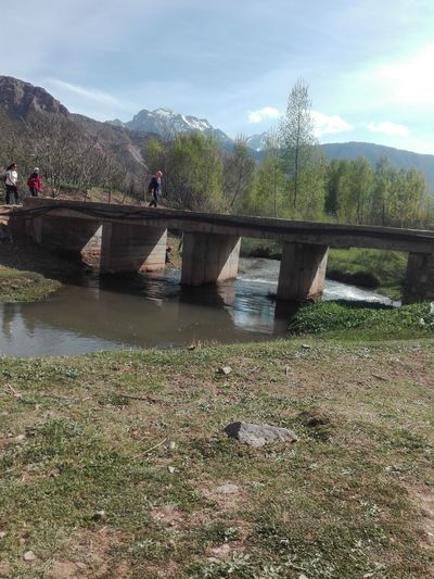 Ait Boughmez Morocco Montains    Nature Photography Beutiful Day River Bridge Trees