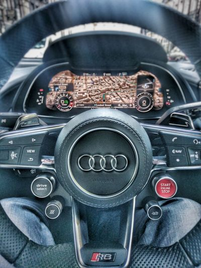Close-up Indoors  Day No People Outdoors City Travel Racecar German Sport Transportation Mode Of Transport Finding New Frontiers Audi R8 V10 Plus Quattro Mobile Conversations