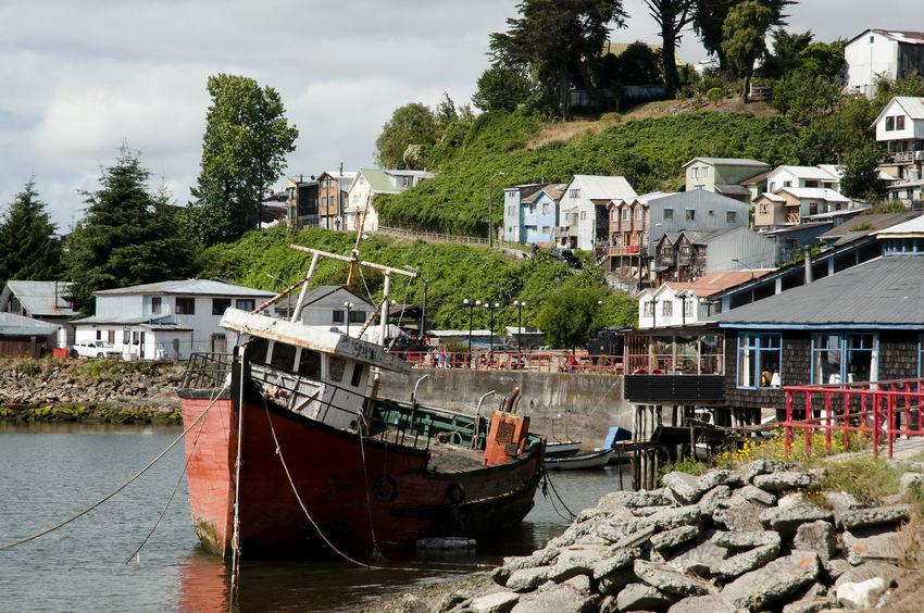 Fishermen Boat - Castro Bay - Chile Chile Chiloé, Chile Wooden Boat Boat Castro Chilöe Fisherman Fisherman Boat Harbor Nautical Vessel River Water Waterfront
