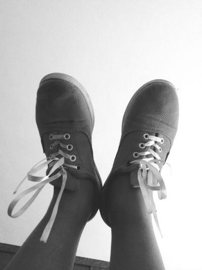 Flats Shoes Blackandwhite