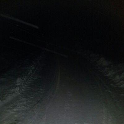 Ute och vandrar i mörkret:)
