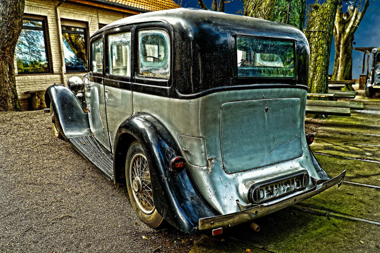 Day Land Vehicle No People Old Car Outdoors Rolsroyce Sunlight Transportation