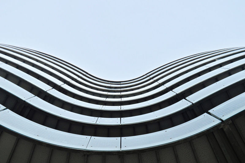 It's all about those curves Outdoors Photography Travel Travel Destinations Copenhagen Sky Blue Sky Reflection Reflective Architecture Architecture_collection Architectural Feature Architectural Detail Architecturelovers Modern Modern Architecture Man Made Object Man Made Man Made Structure LINE Lines Lines And Shapes Curve Textured  Glass Curves And Lines Lookingup Low Angle View Built Structure Pattern Building Exterior Day Clear Sky Copy Space Building No People Nature Geometric Shape Design City Shape Office Building Exterior Directly Below Blue Window The Architect - 2019 EyeEm Awards My Best Photo
