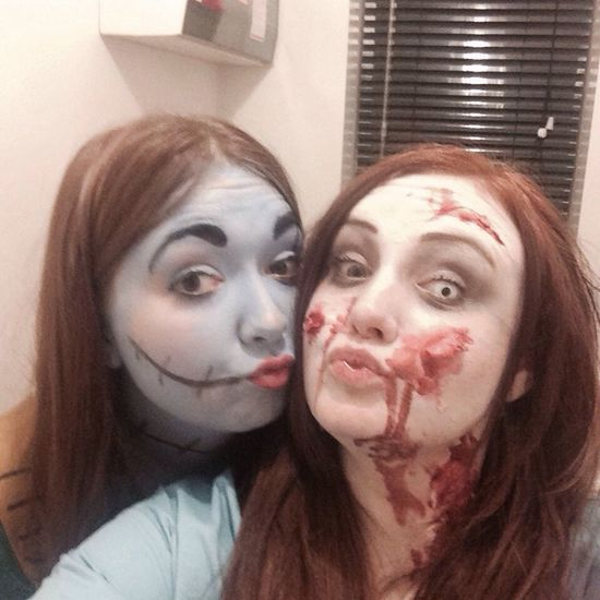 Me and my bestest ❤️ Bestfriends ❤ Zombie NightBeforeChristmas Party