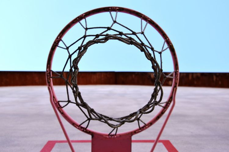 A different point of view can make an usual object something special... EyeEm Basketball Geometry Nature Sky Colors Day Outdoors Circle Perspective Clear Sky Close-up From My Point Of View No People Basketball Hoop Geometry Everywhere Outdoors Photography Minimalist Architecture EyeEm TOA 2017 Investing In Quality Of Life