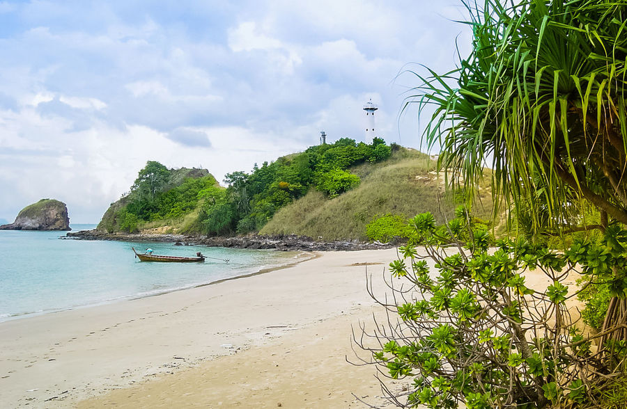 Beach Sand Sea Nature Tree Water Island Lanta Island Vacations Outdoors Tranquility Landscape Sky Day Travel Destinations No People Light House Park National Park
