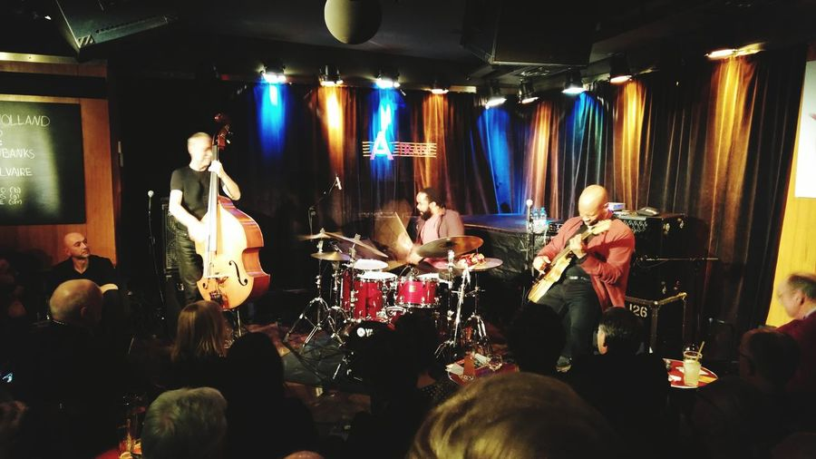 Dave Holland, Obed & Kevin giving a lesson in Communication & Energy Levels. Jazz Double Bass Jazz Club