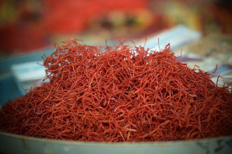 Haridwar,India Kesar Red Fishing Tackle Close-up