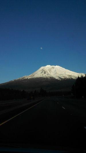 Mt Shasta Moon Moon Over Mountain Sky