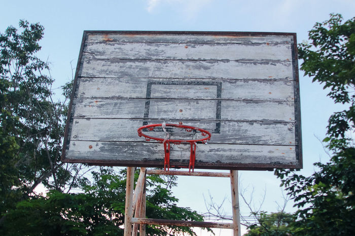 needy school Basketball Lacking Needy No People Old Outdoors Spotted In Thailand Wood - Material