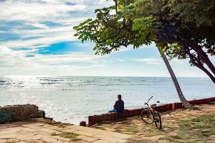 hwaiian life Beach Calm Coastline Escapism Horizon Over Water Ocean Outdoors Rippled Sand Scenics Sea Shore Summer Tranquil Scene Tranquility Tropical Climate Vacations Water Weekend Activities