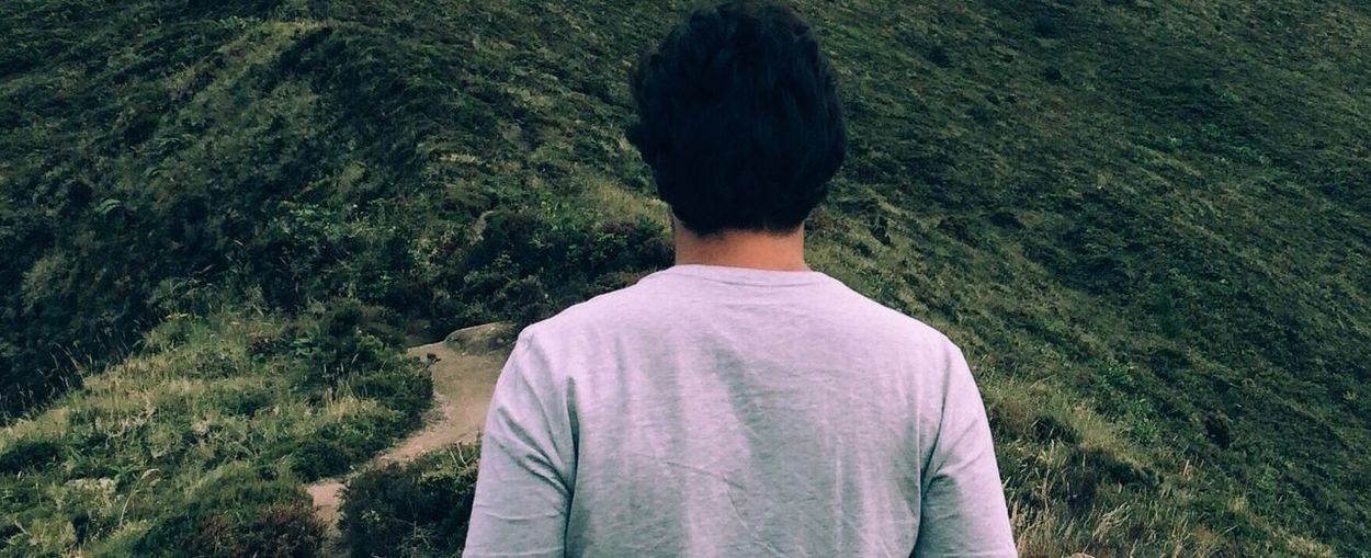 Rear View Standing Waist Up Person Casual Clothing Solitude T-shirt Tranquility Remote Casual Scenics Green Color In Front Of Tranquil Scene Green Escapism People And Places Vscocam VSCO Cam VSCO