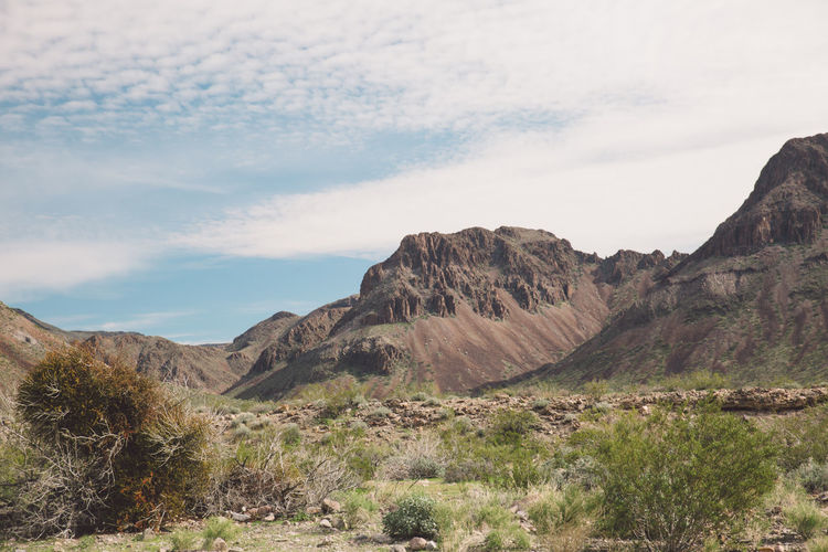 Scenic View Of Mountains Against Sky At Route 66