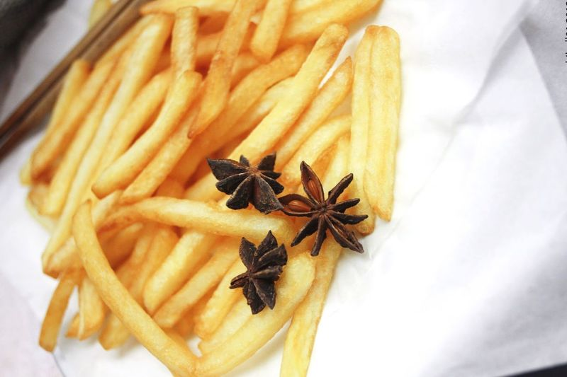 Food Porn Awards French Fries! French Fries Potatoes Chips Crispy Star Anise Yellow Food