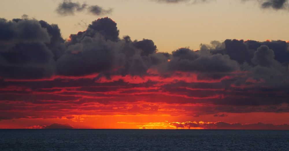 Sky of fire. Dramatic Sky Sea Seascape Horizon Over Water Clouds And Sky RedSky Sunset Ocean Hell Atmospheric Mood Moody Sky Cumulus Cloudscape Atmosphere Heaven Sun Dramatic Landscape Romantic Sky