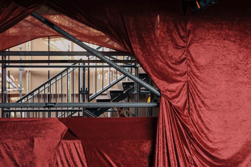 Red Curtain Built Structure Architecture No People Day Indoors  The Week On EyeEm EyeEm Selects Fine Art Photography Streetphotography