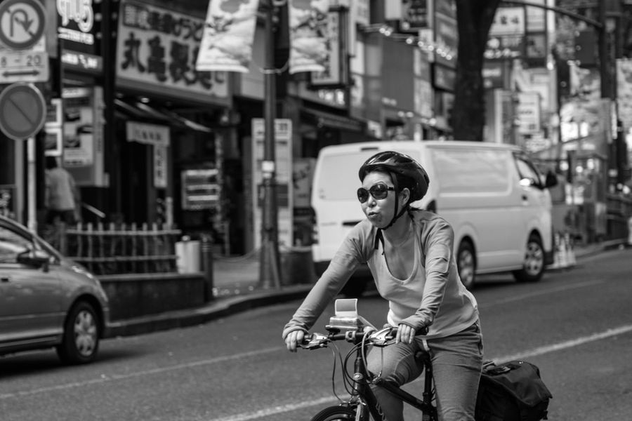 Need for speed...or more wheels? Bicycling Tokyo Street Photography Speed