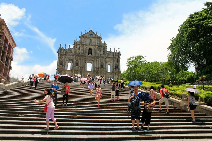 Macau ASIA Ruins Of St.Paul's Ruins Of A Church Ruins Portuguese Chinese Culture