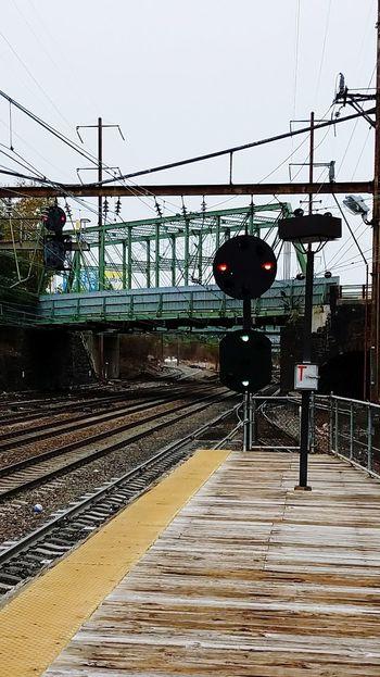 Outdoors Train Tracks Train Platform Train Station Platform Train Signal Bridge