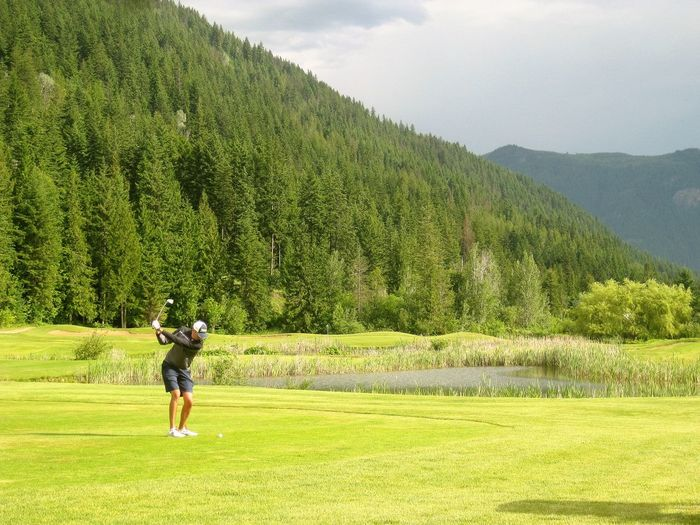 Golf Course Golf Swing Hyde Mountain Lake Mara Lake Mountain Pine Scenics Tree