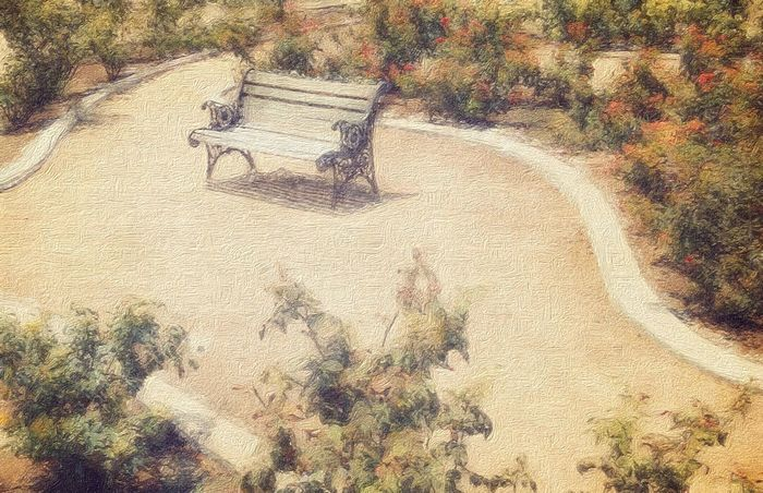 These are my masterpeaces with my iPad Air 2. This is a photo of a park bench in a historical farm nearby Park Parkbench . Taken and processed with iPad Air 2. PaintingStyle Ipadair2