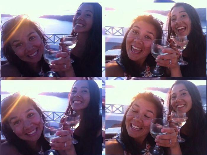 🍸😉 Grece Sister Chears Santorini Girls Sisters