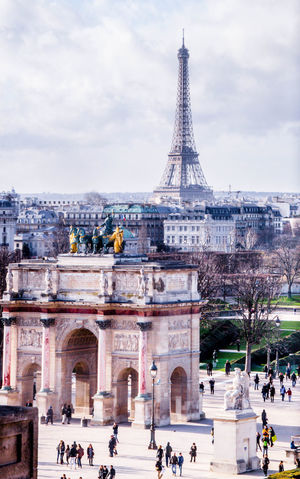 France Paris Adult Architecture Building Exterior Built Structure City Cityscape Cloud - Sky Day Effiel Tower History Lifestyles Men Monument Outdoors People Real People Sky Tourism Tower Travel Travel Destinations Triumphal Arch Vacations
