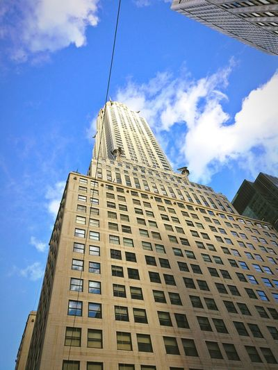Chrysler Building Exterior Sky Architecture City Built Structure Cloud - Sky Tower Low Angle View Outdoors No People History Skyscraper Day Building Feature