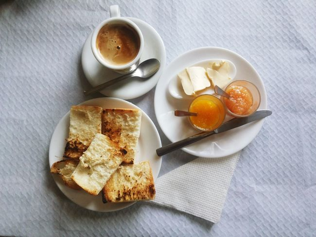 My breakfast choice. Spoon Freshness Food Healthy Eating Ready-to-eat Breakfast Table Indoors  Toasted Bread Toasts Marmelade Coffee Cup Cup Of Coffee Jam Mobile Photography Visual Feast